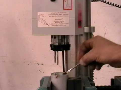 Multiple Spindle Tapping Operation on Drill Press by AutoDrill