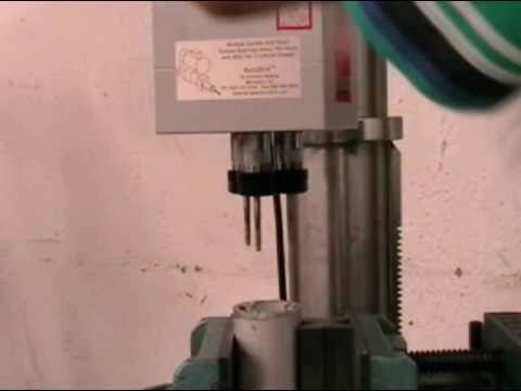 AutoDrill Multiple Spindle Tapping Operation on a Pillar Drill