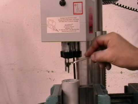 AutoDrill Multiple Spindle Tapping Operation on Drill Press