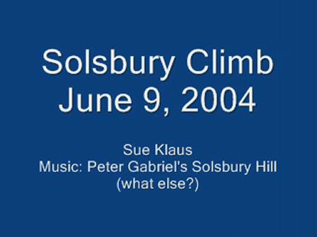 My Climb Up Solsbury Hill