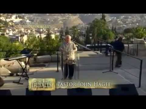 John Hagee declares jesus king and lord over new Jerusalem and the world, in a sermon delivered from the Southern Wall steps of the Temple Mount (excerpts, 2014)