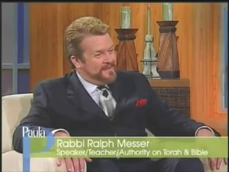 """Paula White gets wrapped in a Torah scroll by messianic """"Rabbi"""" Ralph Messer"""