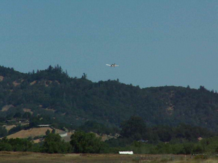 A low pass over Cloverdale airport