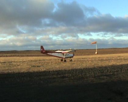Short field take off in 20 kts wind.