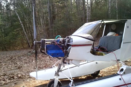 Suzuki 1.3 on the STOL CH 701: Prop Running