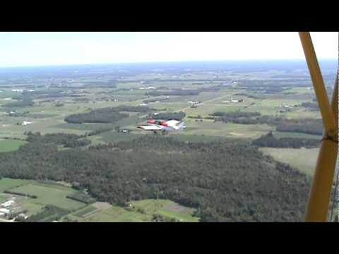Farmation flying. J-3 Cub and Zenith 601
