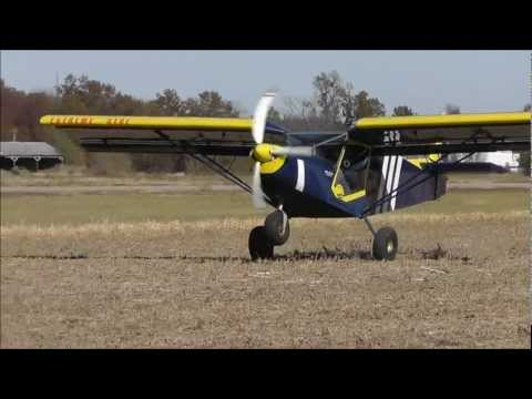 STOL Flying on Farm Bean Field
