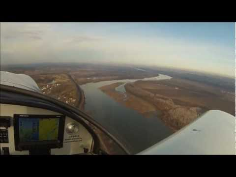 Zenith flight along the Missouri River