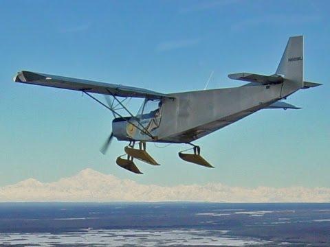 Flying from skis in Alaska - Zenair 701
