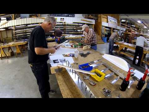 Zenith CH 750 Cruzer rudder assembly at the factory workshop