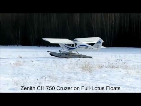Landing on hard snow with Full Lotus floats