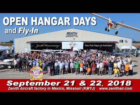 Preview: Zenith Aircraft Open Hangar Days and Fly-In 2018