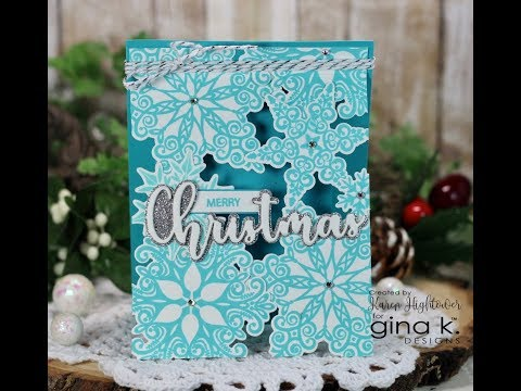Sparkling Snowflakes See Through Card
