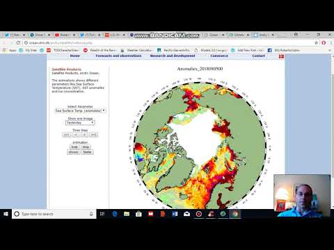 Arctic Sea Ice Lifts Away From the Greenland Coast