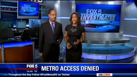 FOX 5 Investigates Metro Access Denied