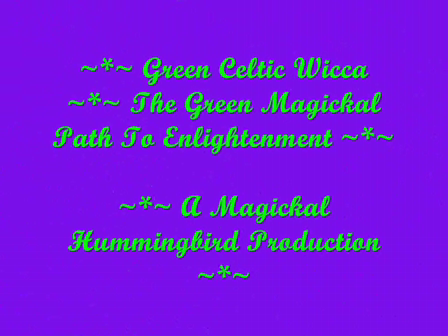 GREEN Celtic Wicca   Magickal Way Of Enlightenment