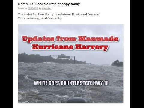 Manmade Hurricane Harvey; FEMA says: 450,000 Homeless; FEMA Camps/Coffins at the Ready
