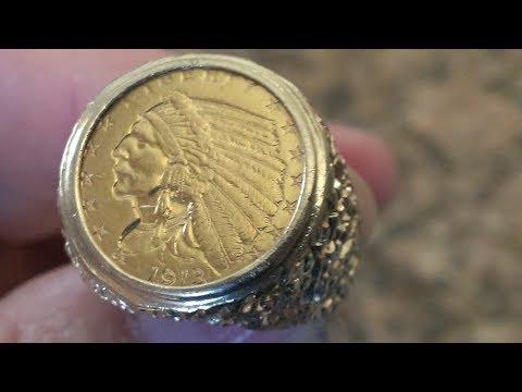 Tesoro Encontrado  ! Santa Cruz Pier Scuba Treasure Hunt ! Big Indian Head Gold Ring : )
