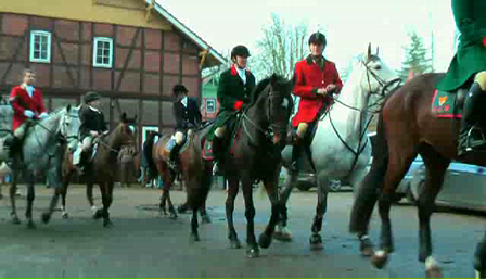 Traditional drag hunt in Sudermühlen