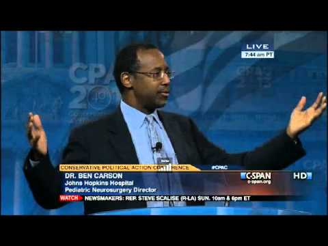 Dr. Benjamin Carson's Stirring Speech at CPAC 2013 - Complete Video 3/16/13