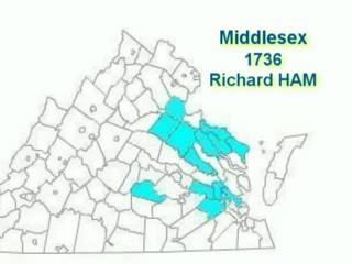 HAM Counties of Origin in Virginia