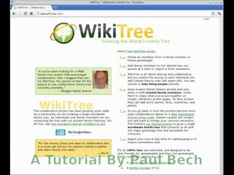 Wikitree.com (online Family Tree) introduction