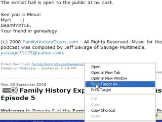 How to Listen to The Family History Expos Podcast