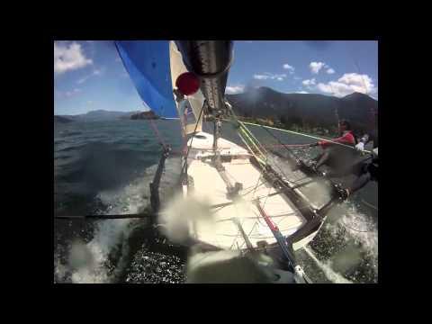 International 14 sailing - Gorge 2015 Practice laps