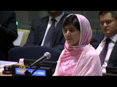 Pakistan's Malala takes Peace plea to UN