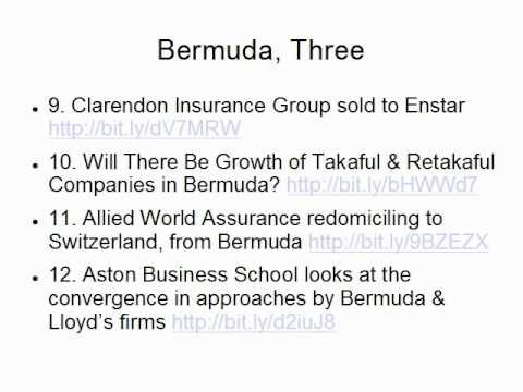 Bermuda Reinsurance and Insurance News, Trends at Year-End from Claude Penland, Actuary