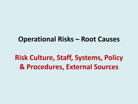 Process based Operational Risk Management