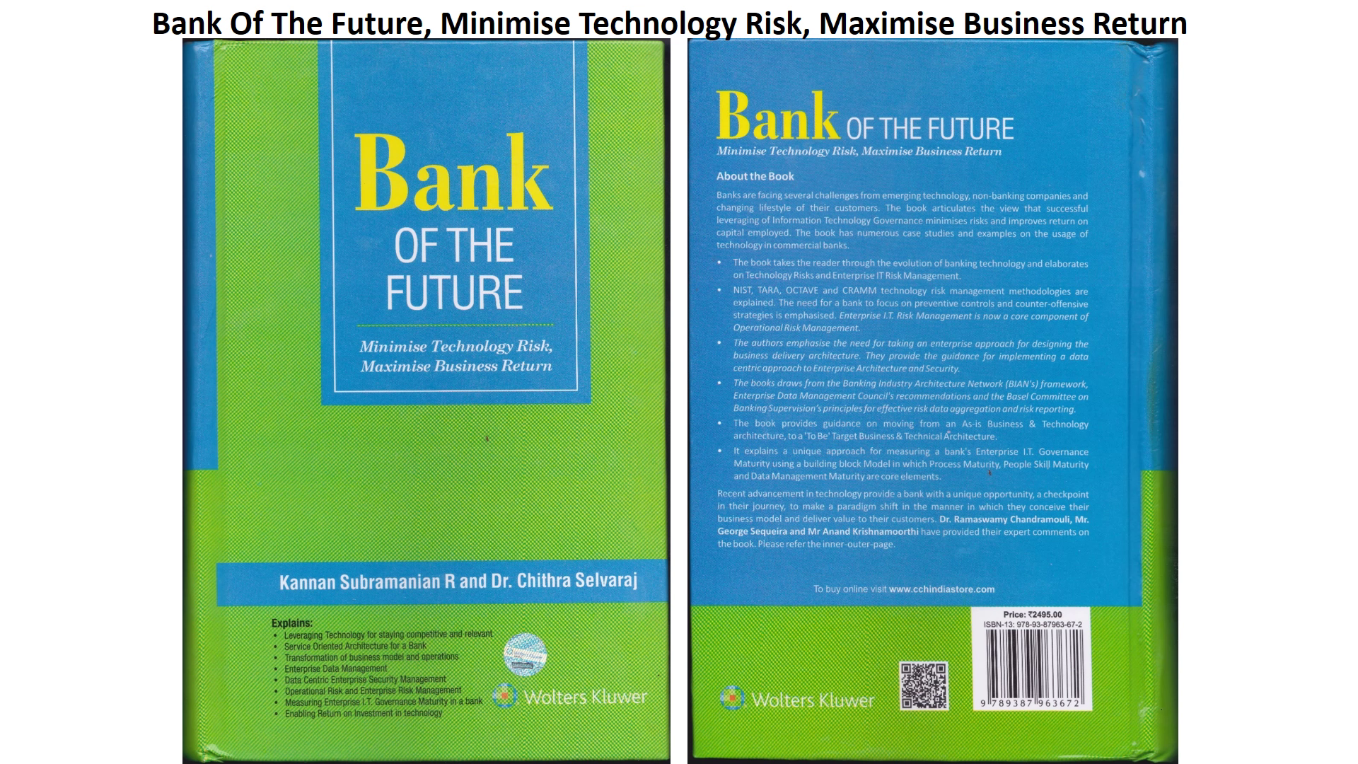Bank of the Future Min Tech Risk, Max Biz Return