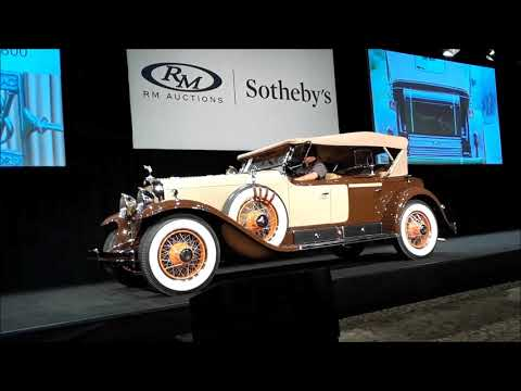 3 Over the Block At the 2017 RM Sothebys Hershey 1919 Apperson 8 19 1929 Cadillac V8 Sport Phaeton a