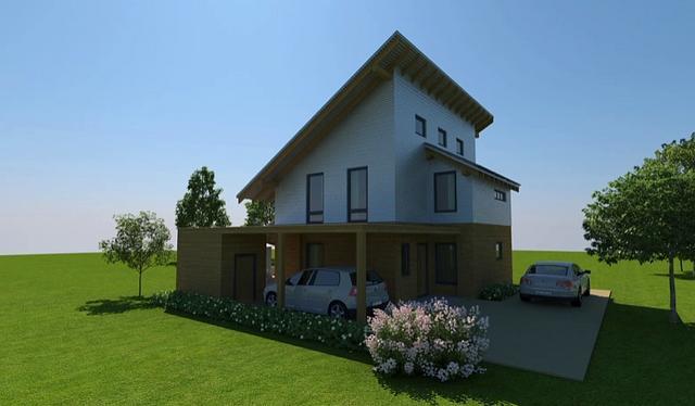 3d animácia - Sonnenstrom Haus