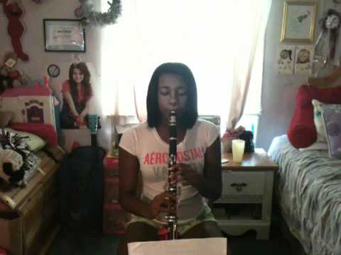 """Me playing """"Menuet In G"""" on the clarinet by J.S. Bach"""