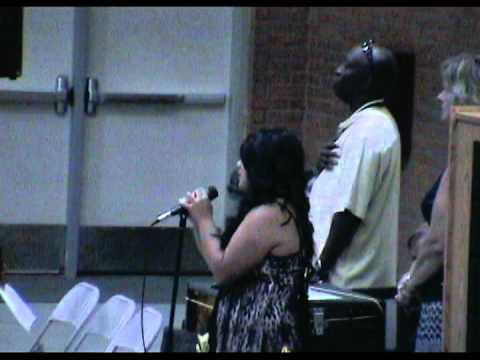 Lexy singing the National Anthem