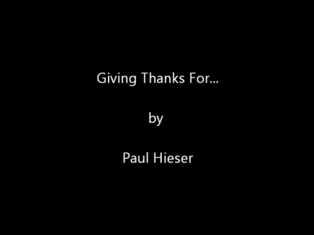 Giving Thanks For