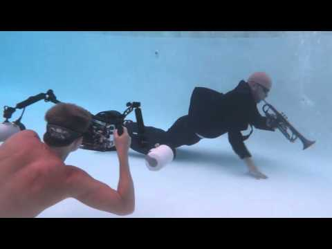 Underwater photo shoot for Preston Smith with Ken Kiefer
