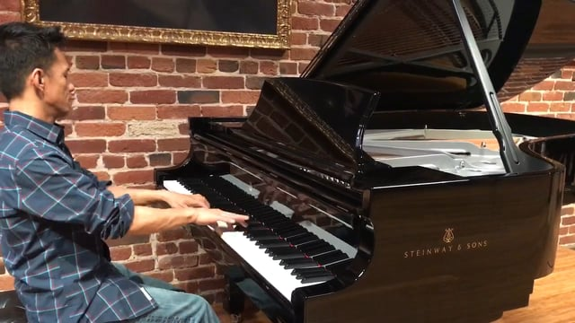 Concert Pianist Johnoscar at Steinway Gallery in San Francisco California