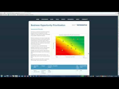 GovernYourData Business Opportunity Assessment Tool Demo