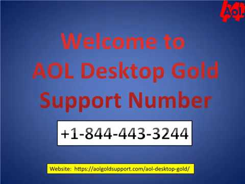 AOL Desktop Gold Support Number +1 844 443 3244