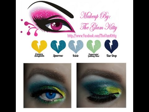 Sultry Sunday: Colorful New Years Eve Party Makeup Featuring Rockeresque Beauty Company