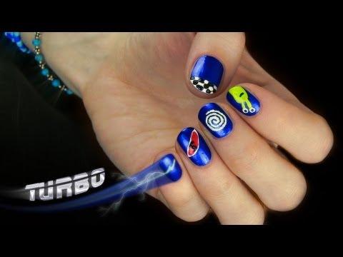 Turbo the Movie Nail Art! Pretty and Cute Cartoon Nail Design.