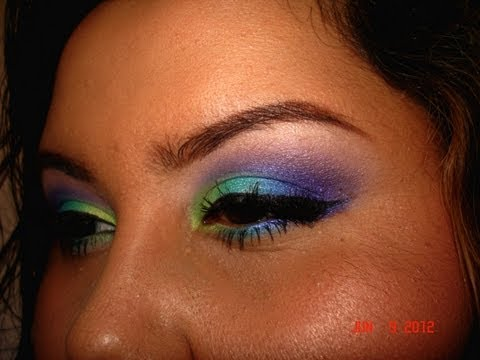Bright Colorful Summer Makeup Tutorial