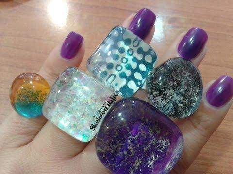 DIY: Crea tus anillos con laca de uñas/ How create your own rings with nail polish