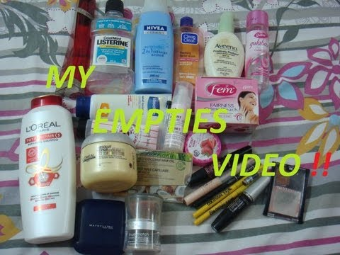 My Huge Empties video / Products I have Used Up / Hit Pan On - Makeup, Skin Care, Hair Care etc