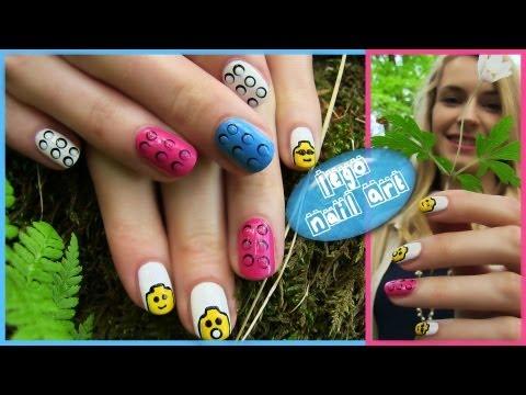 Lego Nail Art! Lego Heads, 3D Bricks, Blocks Nail Design. Toy Nail Art. Nail art in Future - iPhone
