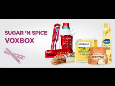 Open Box Haul Featuring Influensters Sugar N' Spice 2013 VoxBox