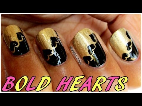 BOLD HEARTS | Nail art tutorial for VALENTINES DAY.