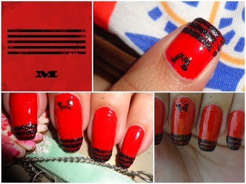 KPOP Nails: Big Bang M Nails + Quick Tip No One Tells